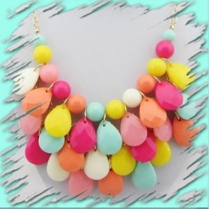 "Jewelry - NEW! ""Colors of Spring"" 3 tier necklace"