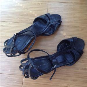 *moving sale* Elie Tahari leather open toe sandals