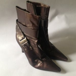 BCBG Bronze Brown Boots