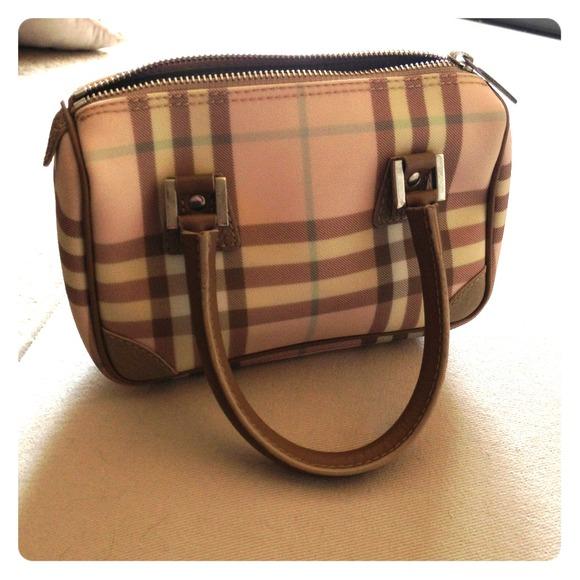 5a033a9ecc83 Authentic Burberry London Pink Plaid Bag