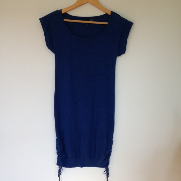 H&m Royal Blue Shirt Dress