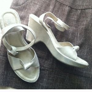 Silver Sandals by Kenneth Cole