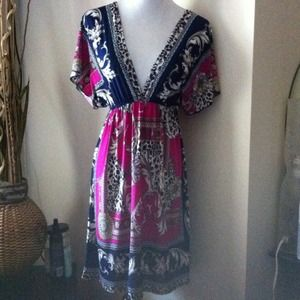 Fuschia Grecian dress M
