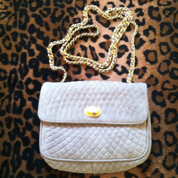 Bally of Switzerland - BALLY vintage quilted suede chain-strap ... : bally quilted bag - Adamdwight.com
