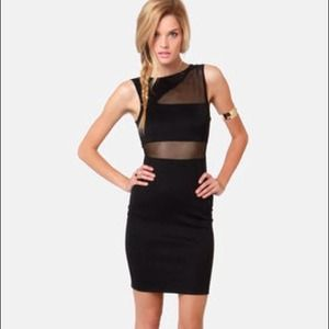 Bodycon Mesh Cutout Dress