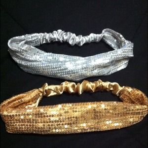 Silver & Gold Sparkly Headbands