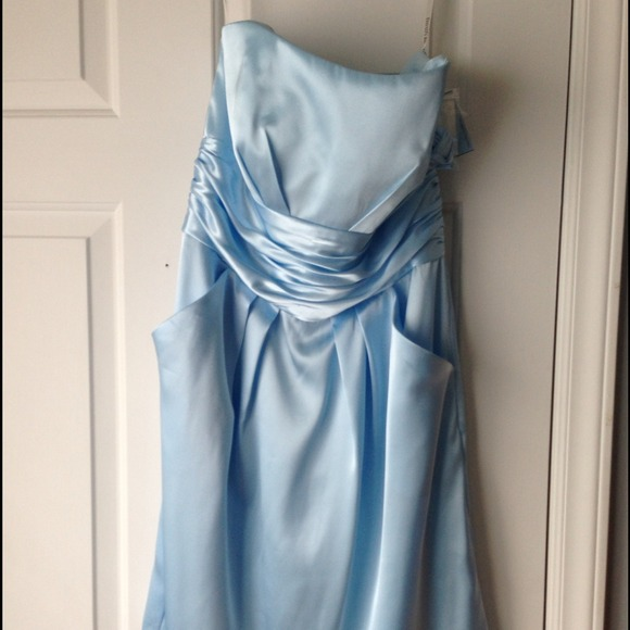 Capri colored bridesmaid dresses