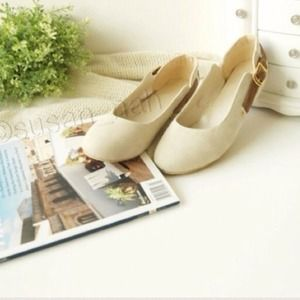 Shoes - Bundle white flats + darker tan oxford flats6.5