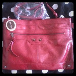 New red leather clutch/handbag