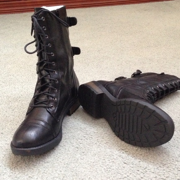 33% off Shoes - ✂️Price cut! BRAND NEW!!! Black combat boots ...