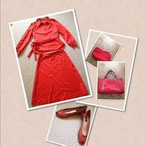 Other - Cute Bundle - Red Dress, Shoes, Tote, Makeup Bag,