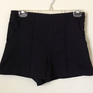 New Black High Waisted Shorts