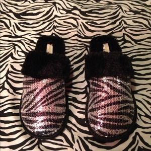 ZEBRA PRINT SEQUIN SLIPPERSNWOT