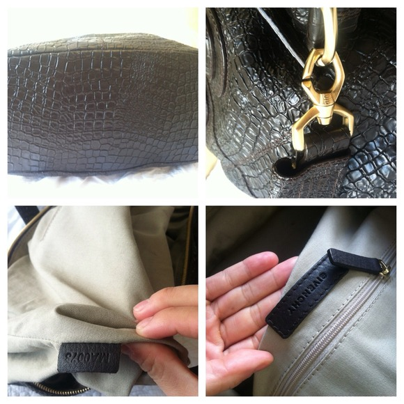 Givenchy Bags - Authentic Givenchy Croc Medium Nightingale - Brown