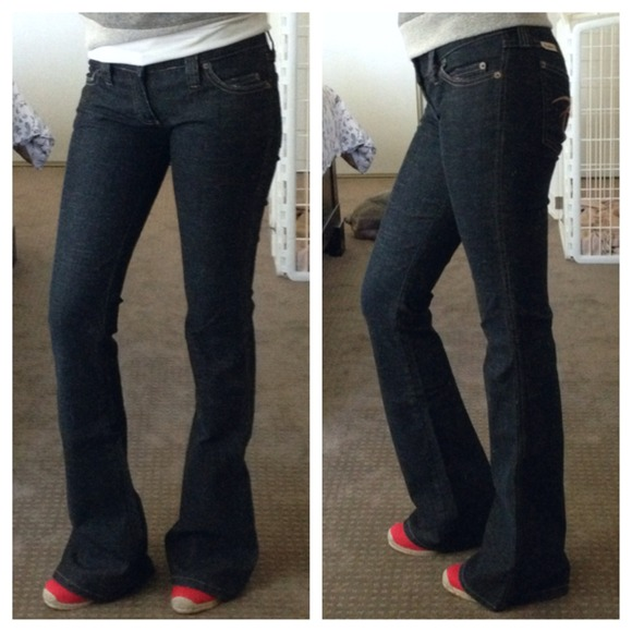 Frankie B. - Frankie B. ultra low rise flare jeans from Rimi's ...