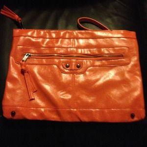 Handbags - Larger orange clutch