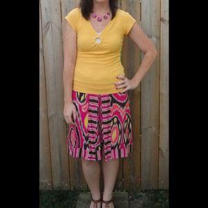 Dresses & Skirts - 🎉Host Pick🎉  Pink Printed skirt