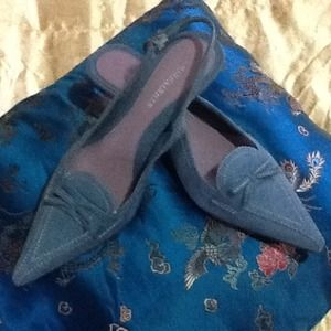 NWT Funky Blue Suede Shoes!