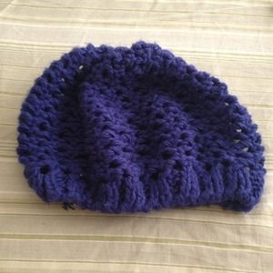 Never Worn!!! Brand new violet purple beanie cap