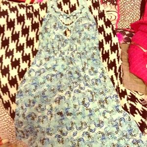 Adorable Candie's dress! Blue beaded top size xs!
