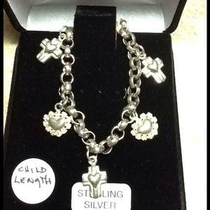 Jewelry - Sterling Silver Childs Charm Bracelet