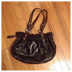 Black Patent Nine West Handbag