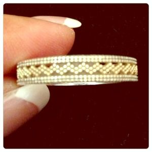 10k / sterling silver band ring