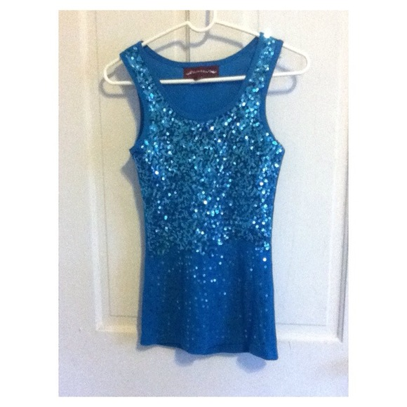 Bob Mackie Top Sz XL Sequin Blossom Top & Knit Tank Aqua Blue. Sold by Phoenix Trading Company. $ $ MSK Women's Boat-Neck Sequined Evening Top. Sold by Rennde. $ $ International Concepts INC $69 Womens New Blue Sheer Sequined Jewel Neck Short Sleeve Top L B+B.