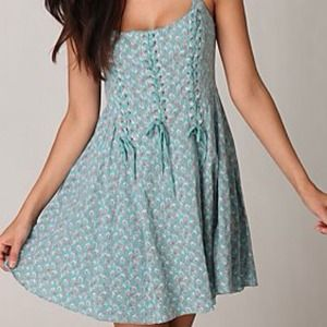 ✂REDUCED✂ Free People Corset-Style Cotton Dress