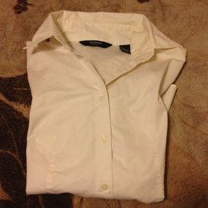 Express Tops - EXPRESS Original Long Sleeve Essential Shirt White