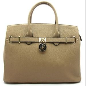 Handbags - Large stone colored handbag