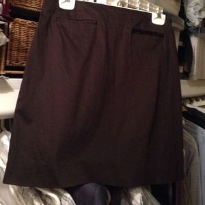 Ann Taylor factory store  Dresses & Skirts - Cotton spandex front welted pocket chocolate skirt