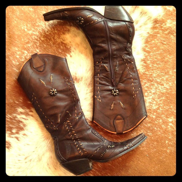 Bcbgeneration Overtheknee Brown Leather Boots My Posh Picks
