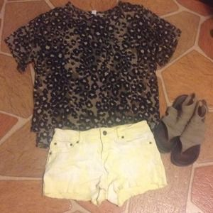 Vintage Cheetah Pocket Top