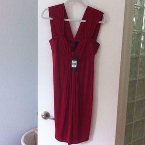BCBG Max Azria Red Cocktail Dress