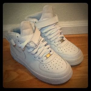 air force ones high top white