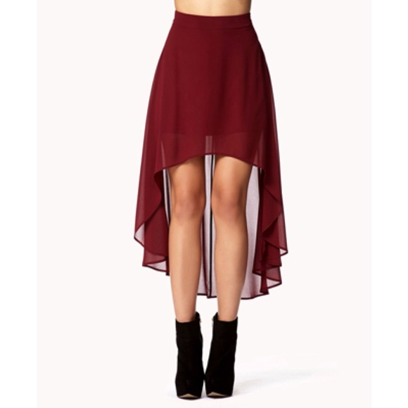 Forever 21 high low skirts