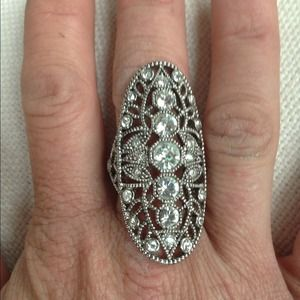 House of Harlow silver ring