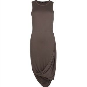 Gorgeous ALLSAINTS  jersey asymmetrical dress