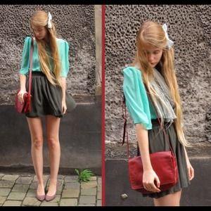PRE ORDER High waist pleated mini skirt