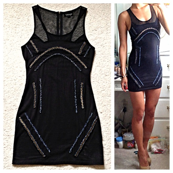 🚫SOLD🚫 Topshop Black Bodycon Dress