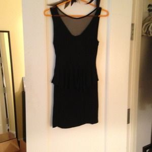 tres jolie Dresses & Skirts - Black peplum dress with cutout in the back