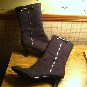 Shoes - Size 11W Black Suede Boots