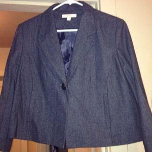 Merona Jackets & Blazers - Merona Charcoal Grey Wool Blazer size L SOLD!