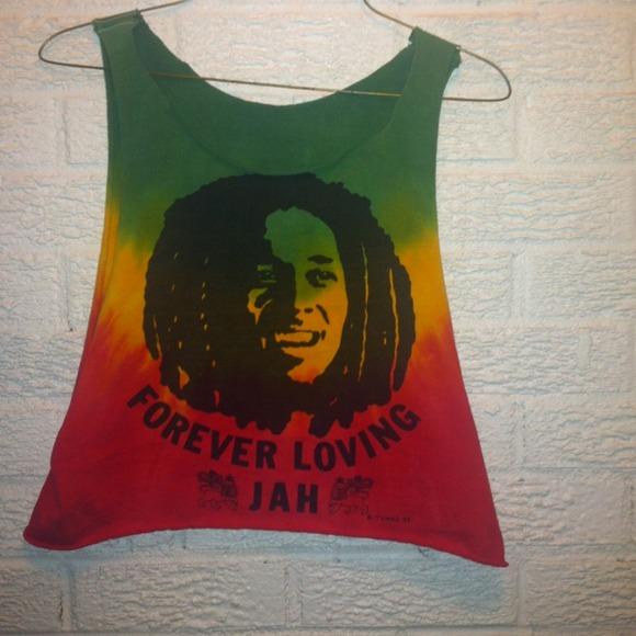 4753176ac8e45 Bob Marley Rasta crop top. M 51df5239e4ebea1b0100317b