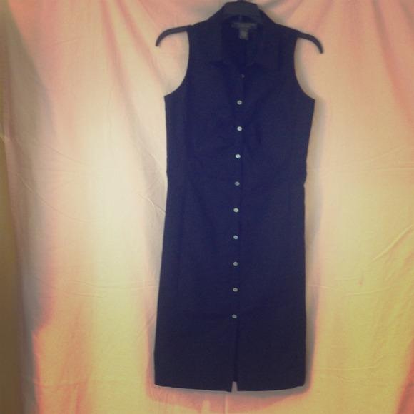 Banana Republic Dresses Black Collared Button Down