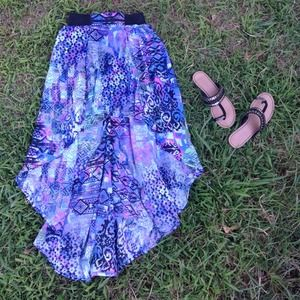 Dresses & Skirts - 🐚🐳🐠Tribal Hi-Lo Sheer High-waisted Skirt🐠🐳🐚