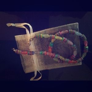 Multi Colored Beaded Necklace