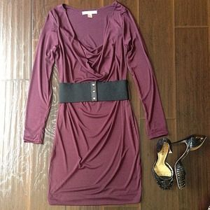 Dresses & Skirts - Plum Jersey Knee Length Dress