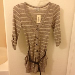 Forever21 striped knit boyfriend cardigan